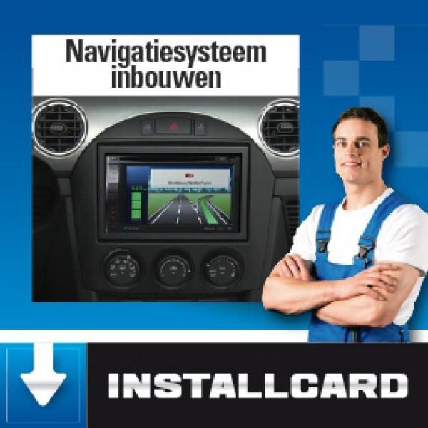 Installcard 1-Din Navigatie inbouwen