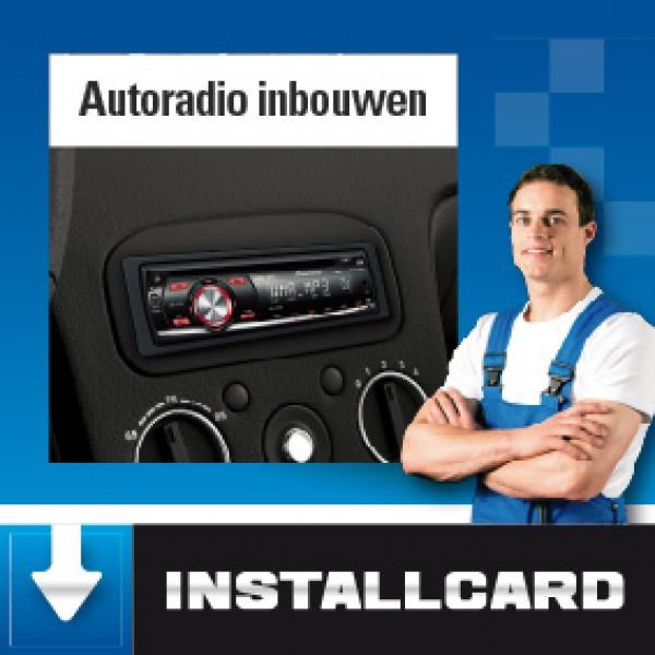 Installcard autoradio inbouwen