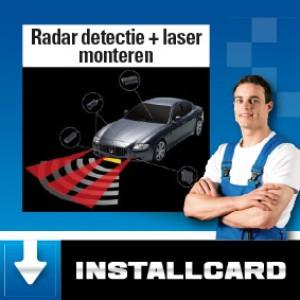 Radardetectie+laser monteren