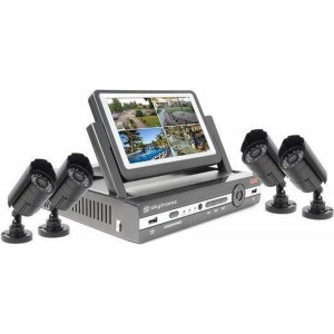 "DVR Kit 7"" TFT Monitor met 4 camera's en 500GB HDD"